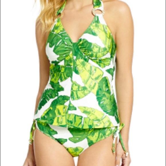 87bdd317c8 ANTONIO MELANI Swim | Nwt Tropical Leaf Print Tankini | Poshmark